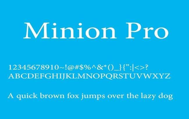 download Minion Pro font