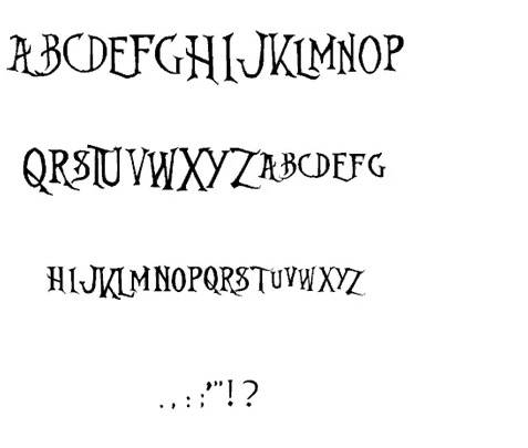 Nightmare Before Christmas font download