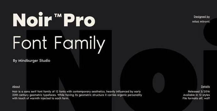 Noir Font free