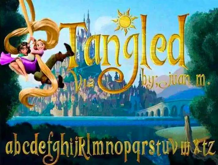 Tangled Font download