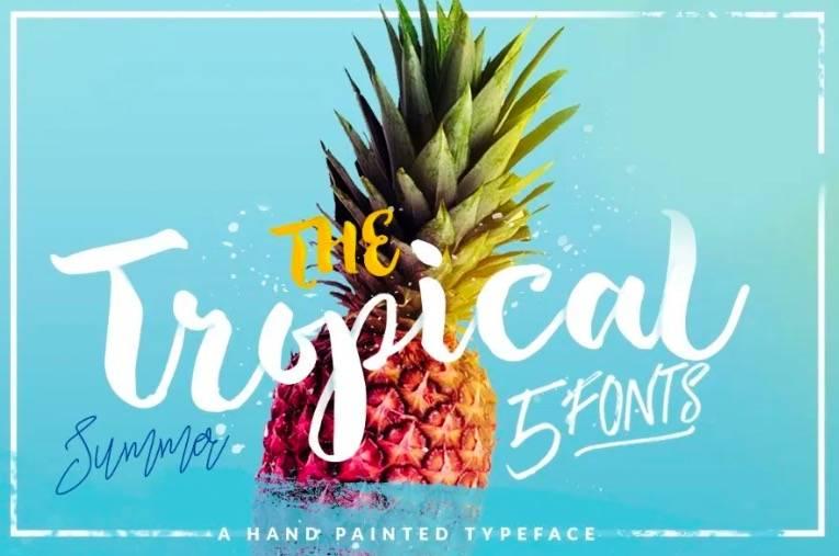 Tropical font free