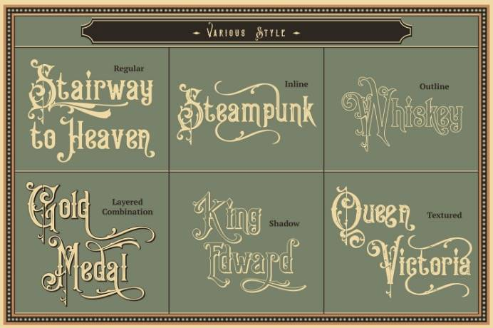 victorian font free download