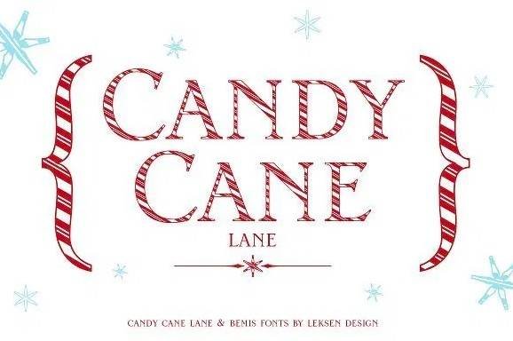 candy cane font free