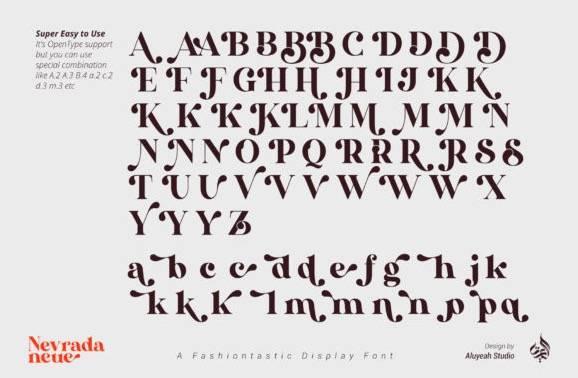 AL Nevrada Neue Font free