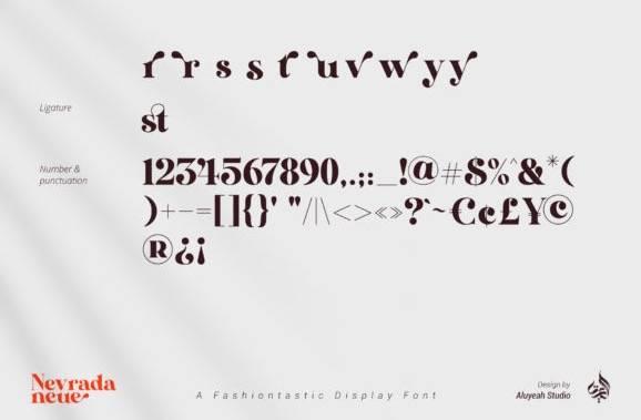 AL Nevrada Neue Font download