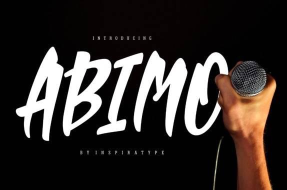 Abimo Brush font
