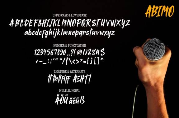 download Abimo Brush font