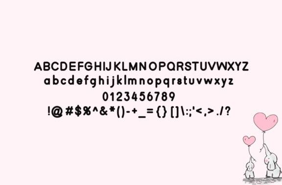 free Affection Display Font