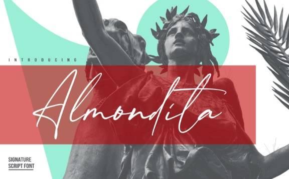 Almondita Elegant Signature Font