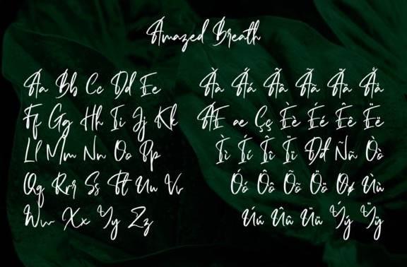 download Amazed Breath Handwritten Font