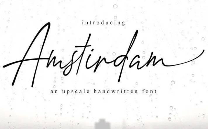 Amstirdam Handwritten Font download