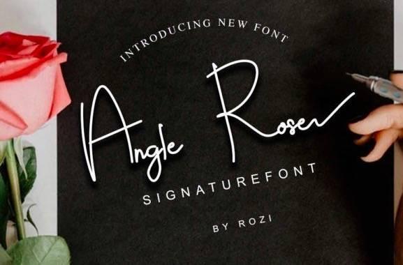 Angle Rose Signature Font download