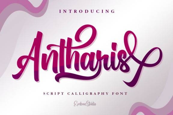 Antharis Calligraphy Font free download