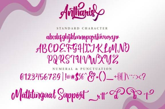 download Antharis Calligraphy Font