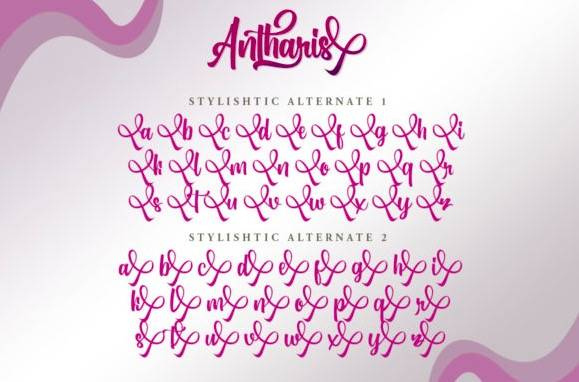 free Antharis Calligraphy Font download