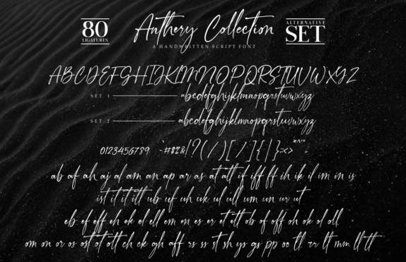 download Anthery Collection Handwritten Font