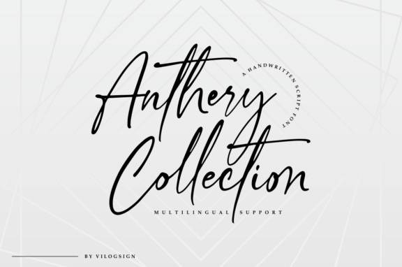 Anthery Collection Handwritten Font