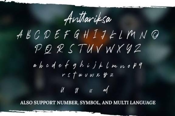free Anttariksa Brush Font