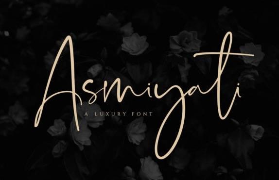 Asmiyati Luxury Handwritten Font