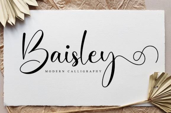 Baisley Calligraphy Font download