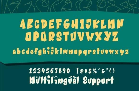 download Beat Word Display Font free