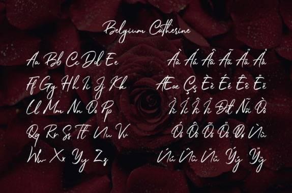 Belgium Catherine Signature Font free