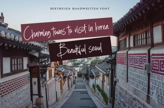 download Berthusen Handwritten Font