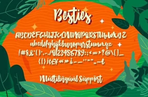 Besties Handwritten Font download