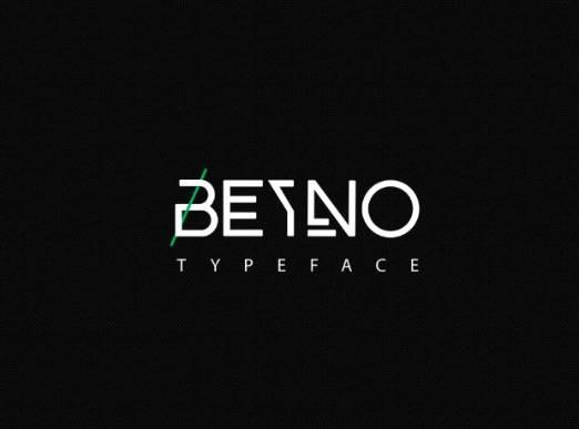 Beyno Font - A modern Graffiti Typeface
