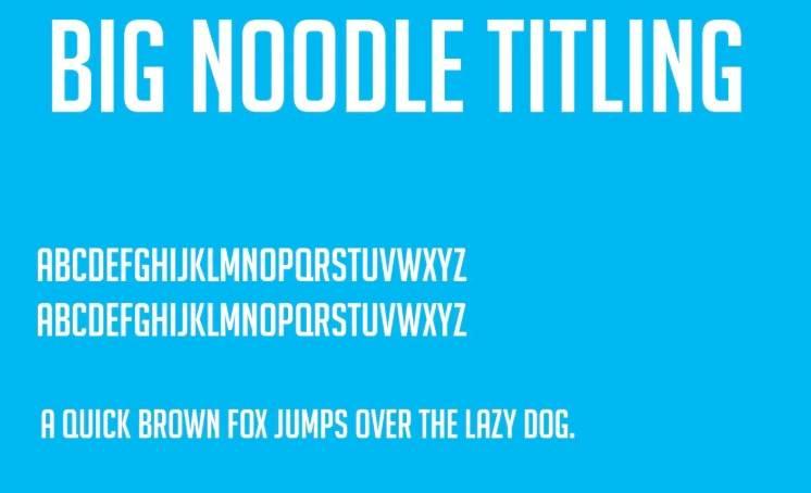 Big Noodle Titling Font
