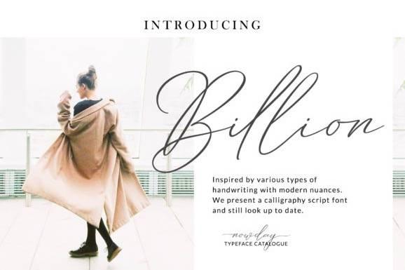 Billion Handwritten Font