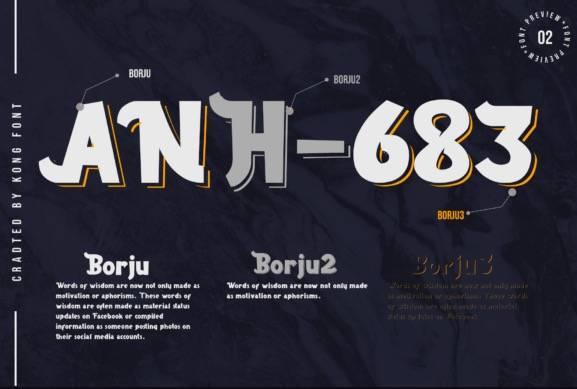 download Borju Display Font free