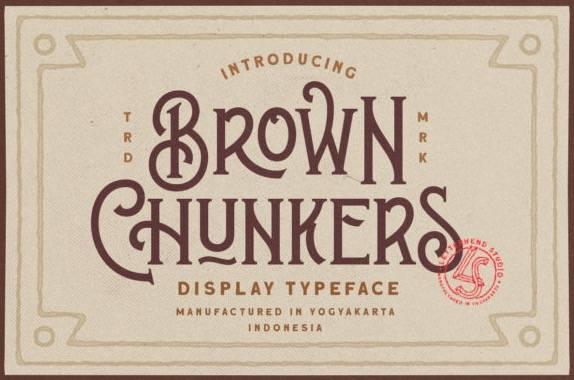 Brown Chunkers Display Font