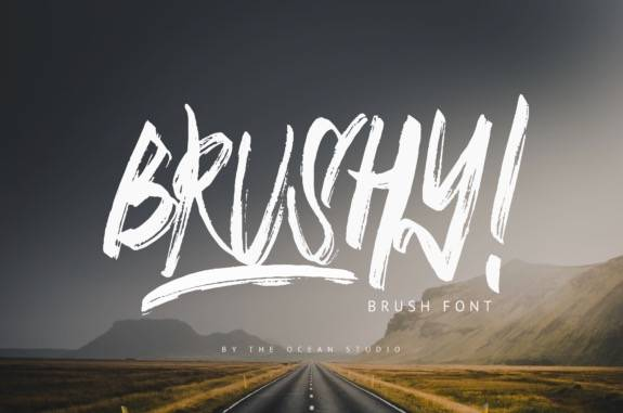 Brushy Elegant Brush Font