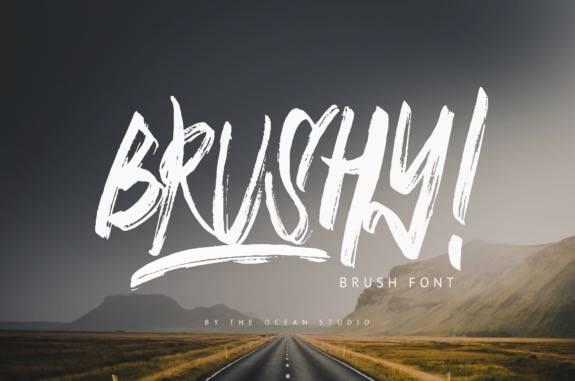 Brushy Elegant Brush Font