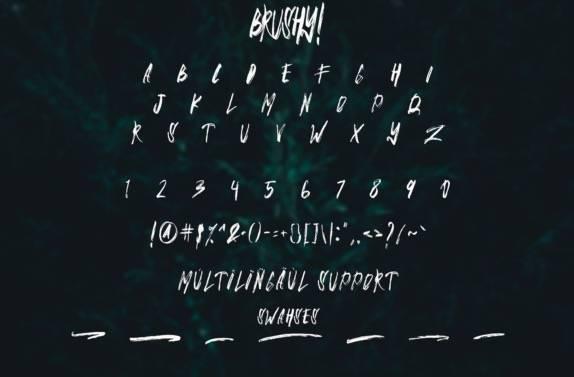 Brushy Brush Font