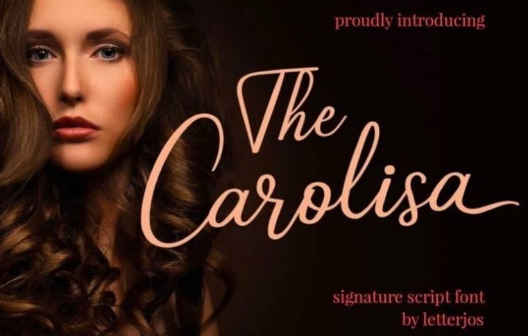 Carolisa Script Font