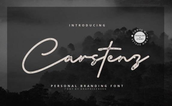 free Carstenz Monoline Font