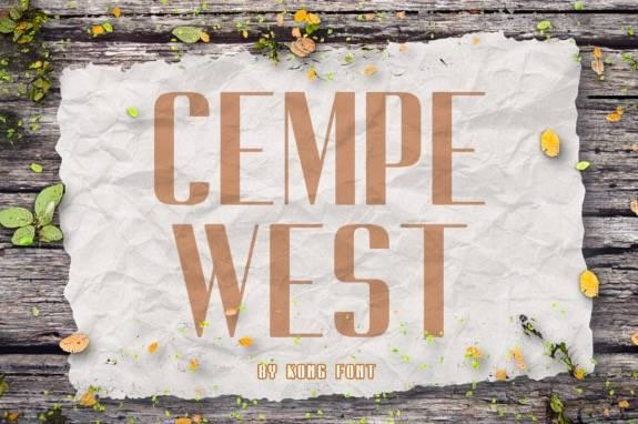 Cempe West Sans Serif Font