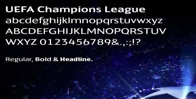 Champions League Font download
