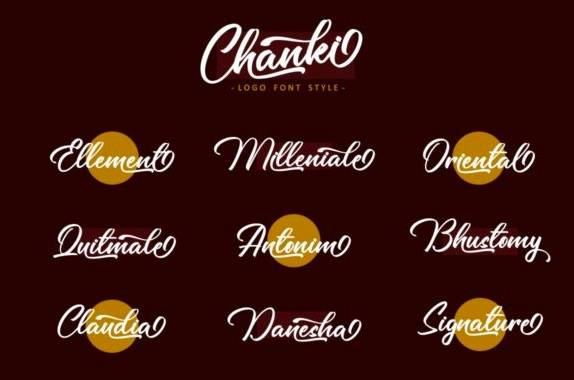 download Chanki Calligraphy Font