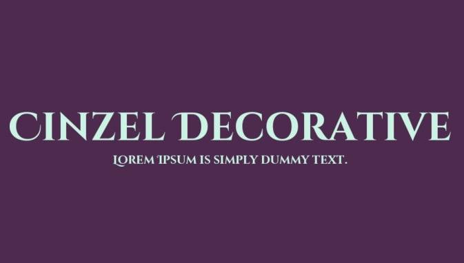 Cinzel Decorative Font download free