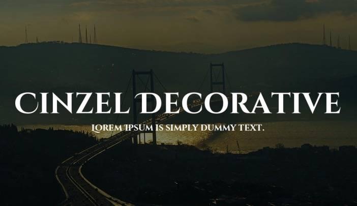 free Cinzel Decorative Font download