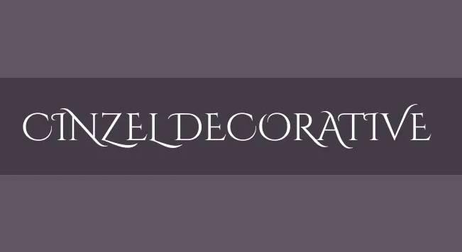 Cinzel Decorative Font free download