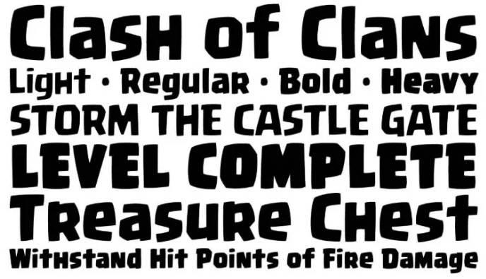 Clash Royal Font download free
