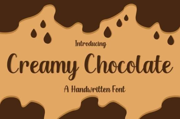 Creamy Chocolate Handwritten Font