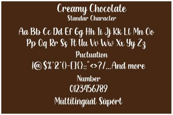 Creamy Chocolate Handwritten Font download