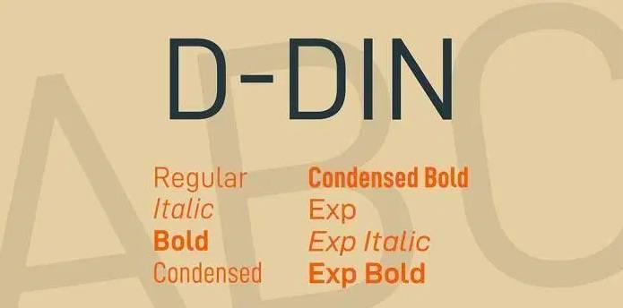 D-DIN Font Family download