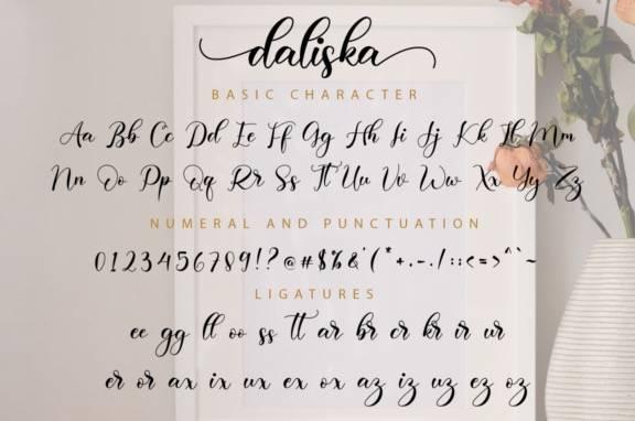 Daliska Calligraphy Font download