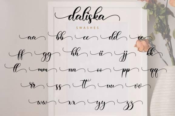 Daliska Calligraphy Font free